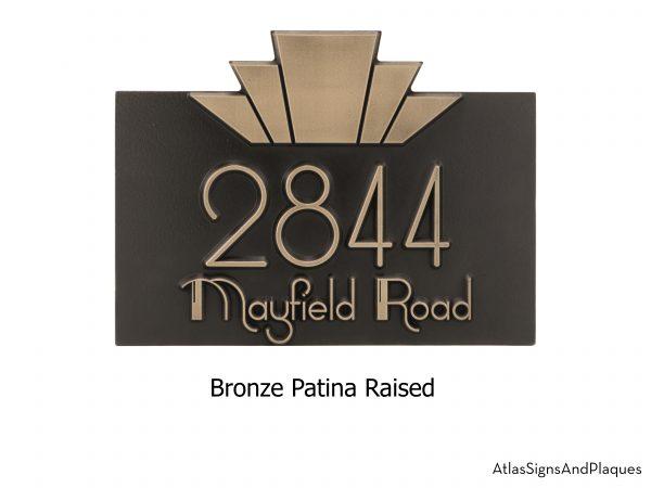 Modern Art Deco Address Plaque