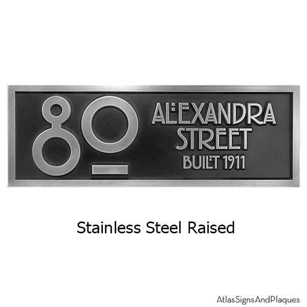 Stainless Steel Stickley 2 Digit Address