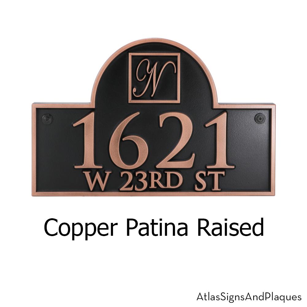 Monogram Address Plaque with arch