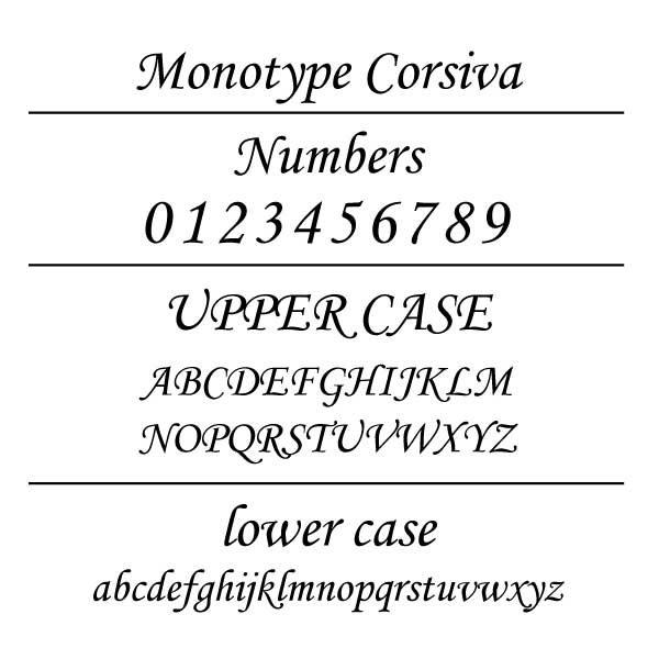 Monotype Corsiva Font