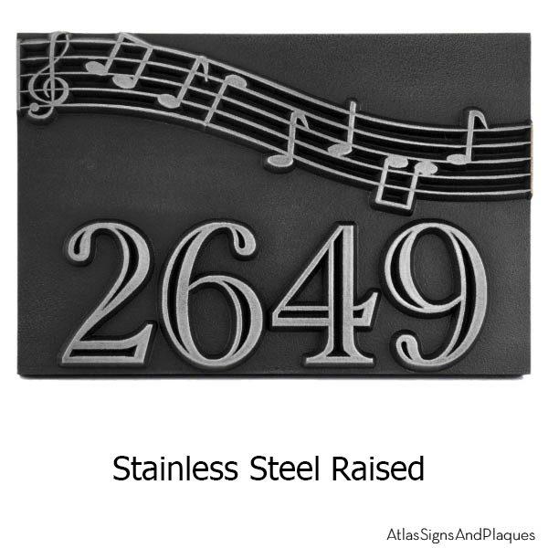 Stainless Steel Raised Plaque