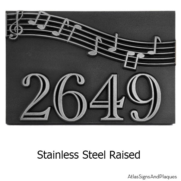 Stainless Steel Raised Plaque