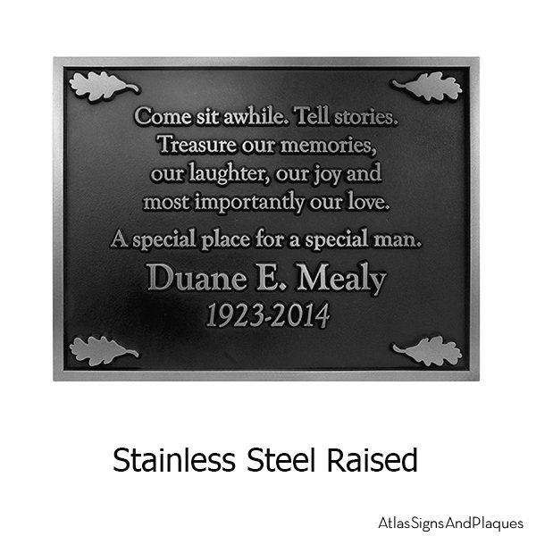 Stainless Steel Nature Conservancy Plaque