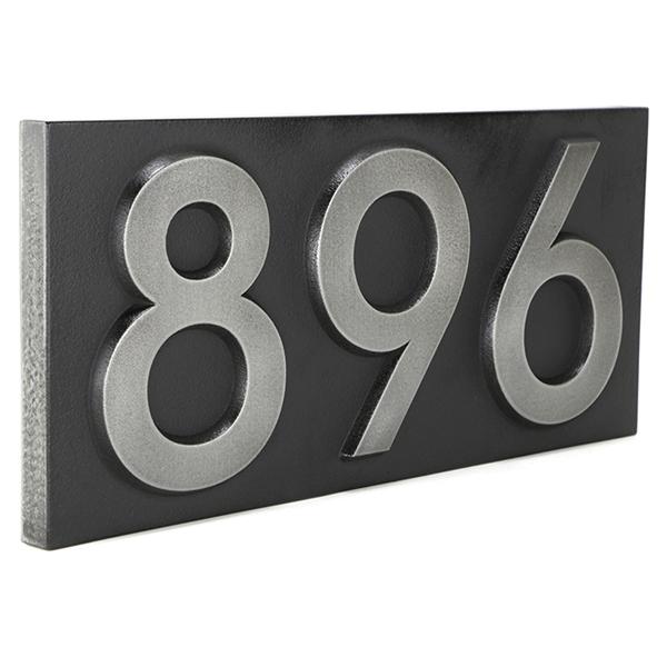 Neutraface Numbers Angled Raised Stainless Steel