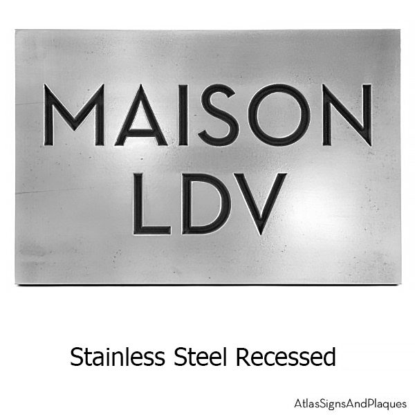 Stainless Steel Neutraface Phrase Plaque