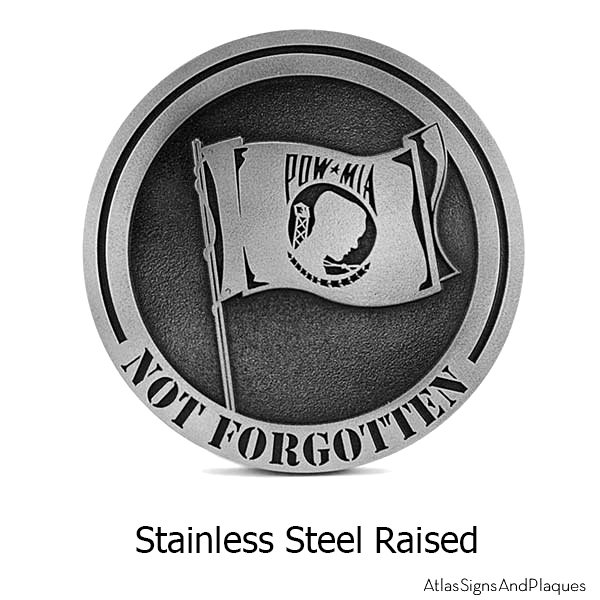 Stainless Steel POW MIA Plaque – Not Forgotten