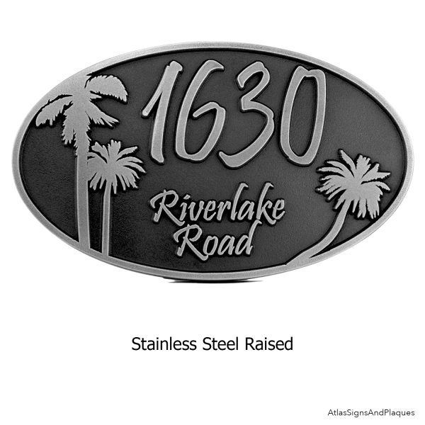 Oval Stainless Steel Plaque Raised