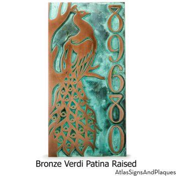 Peacock Address Plaque