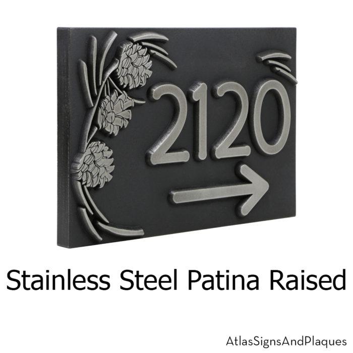 Pine Cone Address Plaque