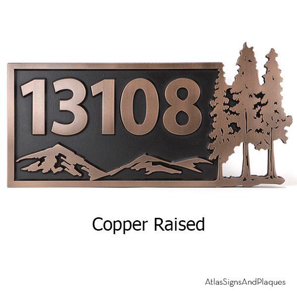 Pine Trees Up North Copper Raised