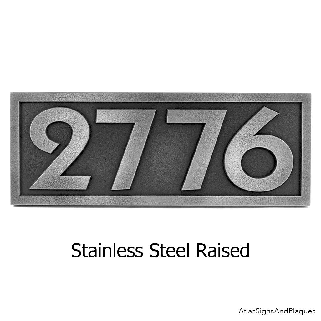 Pleione Address Plaque Stainless Steel