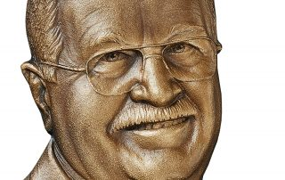 """6""""H Cast Bronze Bas Relief Sculpture"""