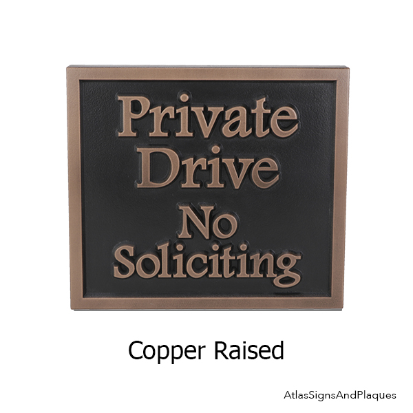 Ready to Ship Copper Private Drive Plaque