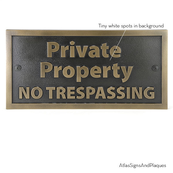 Private Property Bronze Large