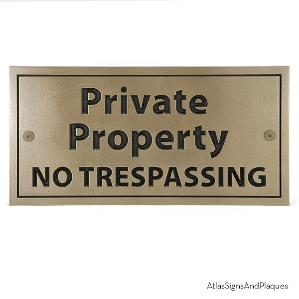 Private Property Bronze Recessed
