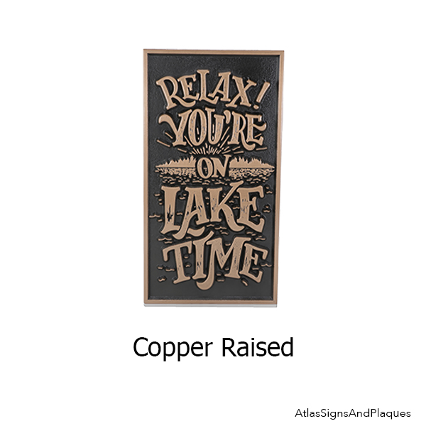 Ready to Ship: Relax! You're on Lake Time Plaque