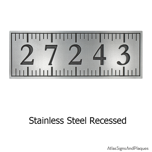 Stainless Steel Ruler Address