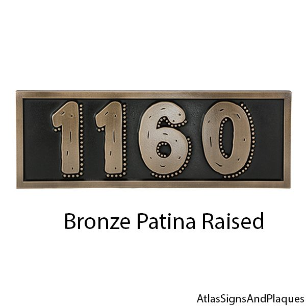 Cool Numbers on Rustic Modern Address Sign