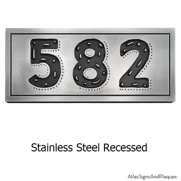 Stainless Steel Rustic Modern Address