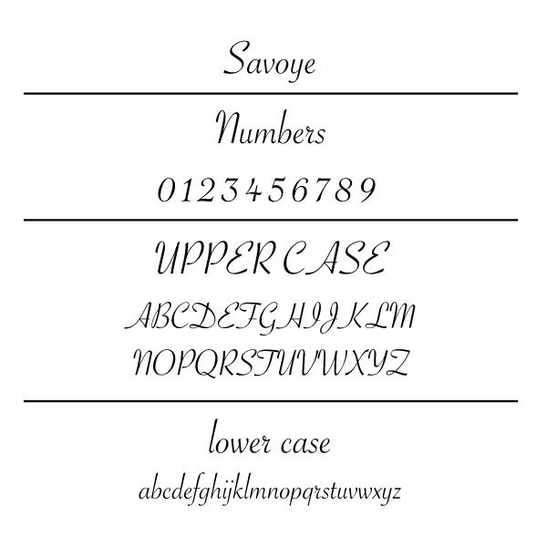 Savoye Font Card