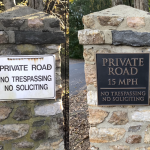 Customer picture of installed sign