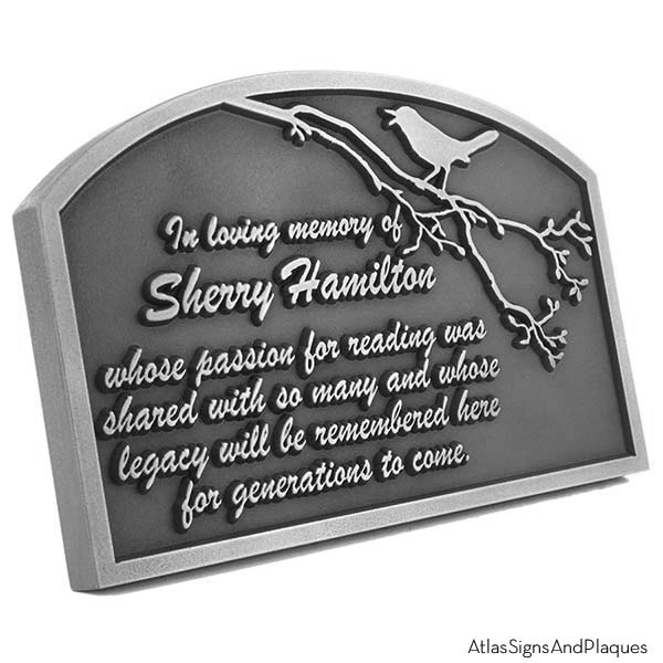 Songbird Remembrance Plaque Abstract