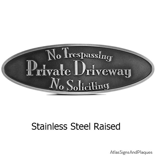 Stainless Steel Stanton Oval Plaque