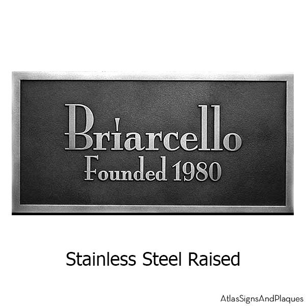 Stainless Steel Stanton Plaque