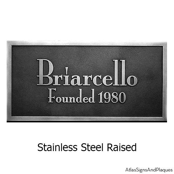 Stainless Steel Stanton Plaque