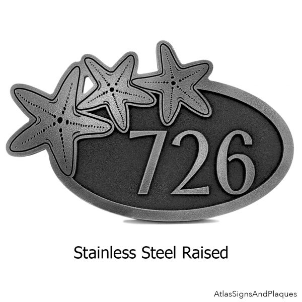 Stainless Steel Starfish Address Plaque