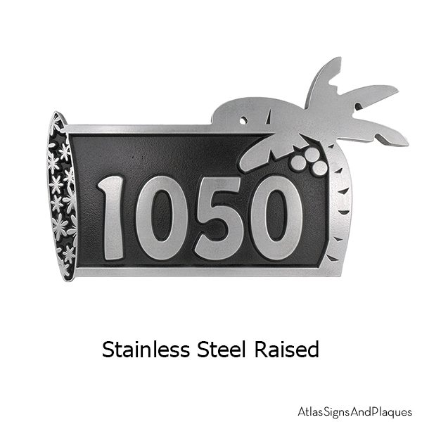 Stainless Steel Surfboard Address Plaque