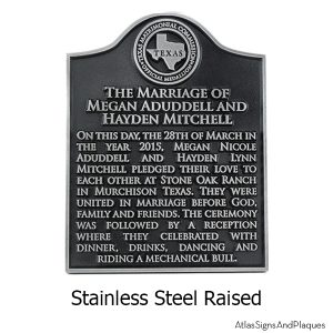 Stainless Steel Your Historical Marker