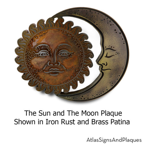 the sun and the moon plaque