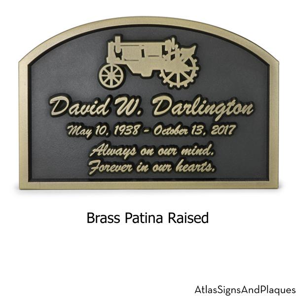 Tractor Memorial Plaque