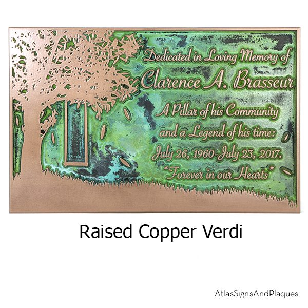 Tree Swing Raised Copper Verdi