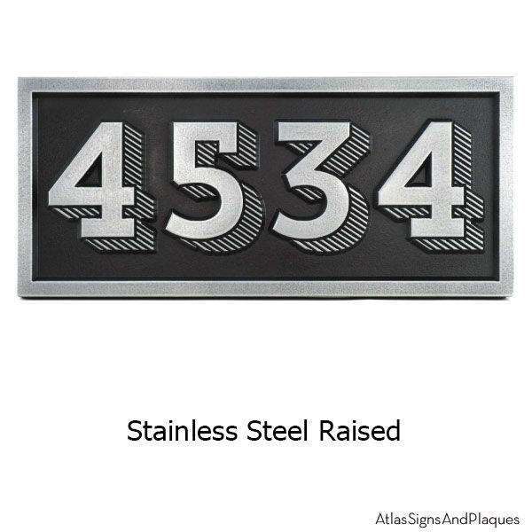 Raised Trend Slab Address Plaque