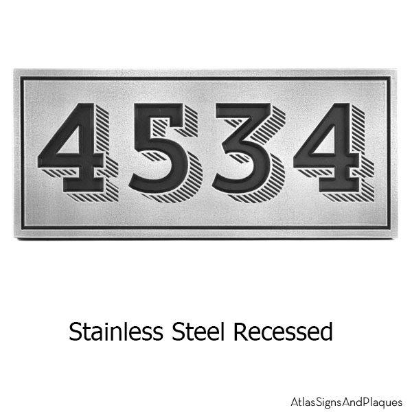 Recessed Trend Slab Address Plaque