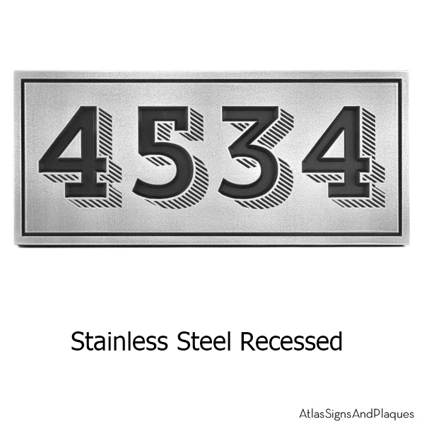 Recessed Trend Slab Address Plaque