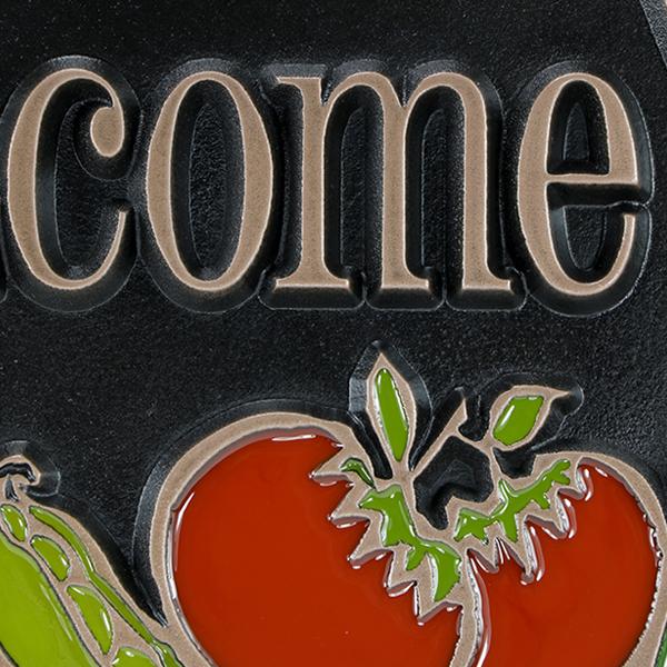 Vegetable Garden Copper Raised Detail