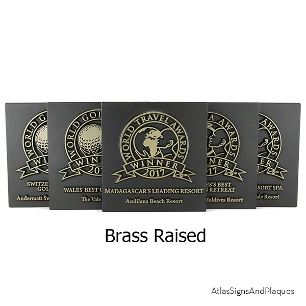 Large Commercial Projects Brass Raised