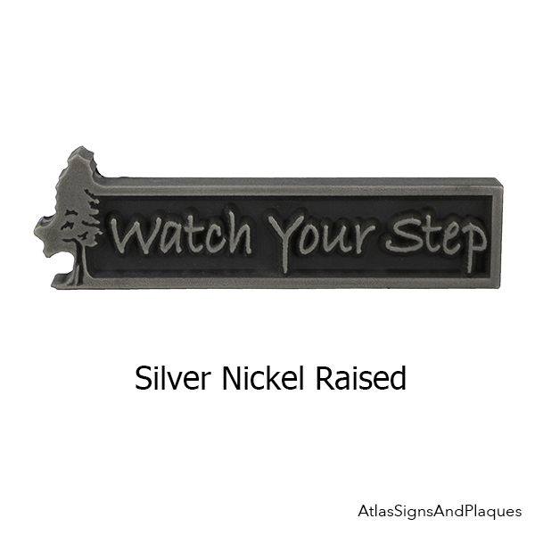 Silver Nickel Ready to Ship Watch Your Step