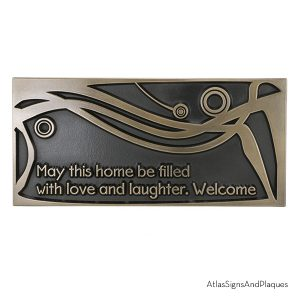 Welcome - May This Home Be Filled Bronze Raised