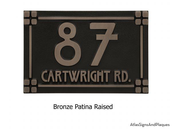 Willow Craftsman Address Plaque