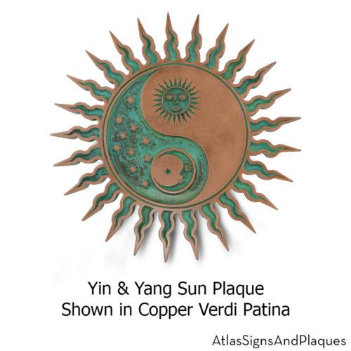 yin & yang sun plaque