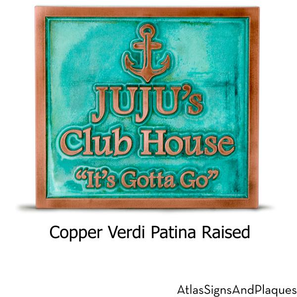 Anchors Away Shown in Copper Verdi