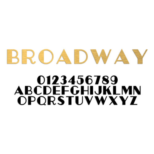 Broadway Font Metal Letter and Numbers
