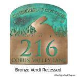 Bunny Address Plaque - Bronze Verdi