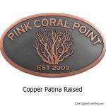 Coral Oval Plaque - Copper