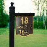 Golf Hole Sign - Brass