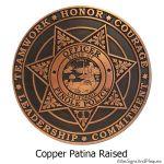 Police Plaque - Copper